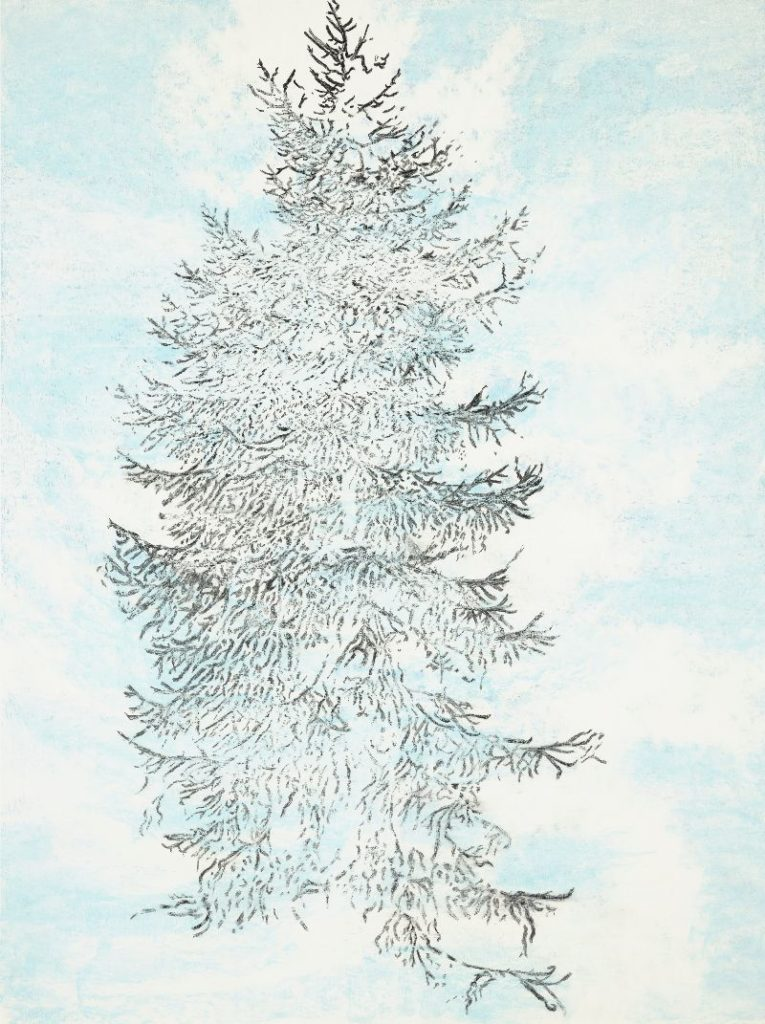 Lariks Ålvik, 2019, pigment ink, pastel and pencil on paper, 97 x 72,5 cm